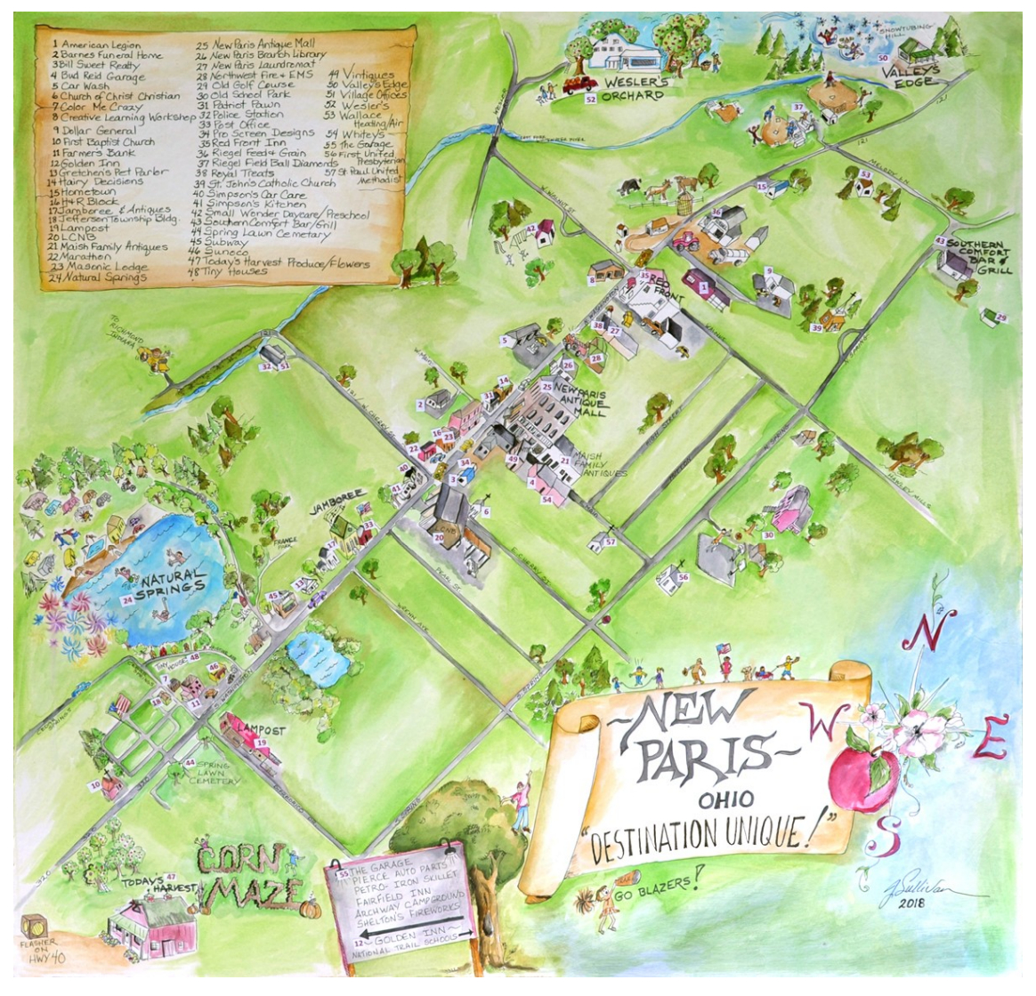 Village of New Paris Map