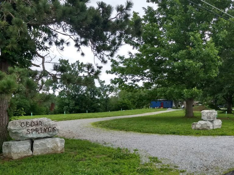 entrance to cedar springs tiny village
