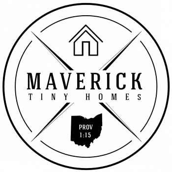 Maverick Tiny Homes logo partnering with cedar springs tiny village